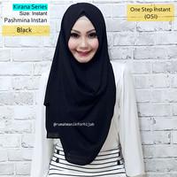 Jual Pashmina Instan Kirana Series Black | hijab vanilla osi hl princess Murah