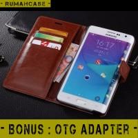 harga Samsung Note 4 - Flip Cover Wallet Leather Case Casing Kartu Dompet Tokopedia.com