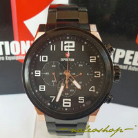 Jam Tangan Expedition Pria E 6401 Rose Gold Black Original