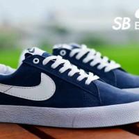 Sepatu Nike SB Blazer Pria Navy List White Running Sport