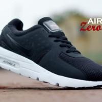 Sepatu Pria Nike Airmax Zero Black Running Sport