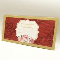 Jual Amplop Angpao WEDDING Lace and Flower RED Murah