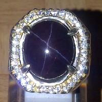 Cincin Batu Permata Star Garnet + Memo