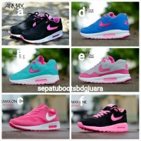 harga Sepatu Olahraga Nike Airmax One Women Wanita Hitam Putih Pink Abu Grey Tokopedia.com