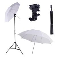 Jual Paket Studio Light Stand 190cm + B Bracket + Payung Transparan 80cm Murah