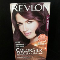 Revlon Color Silk Cat Rambut No. 34 Deep Burgundy