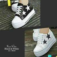 Jual Sneaker wedges kanvas bintang import Murah