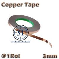 harga 1 Roll 3mm Copper Tape Foil Isolasi Solatip Tembaga Jalur PCB Mod Tokopedia.com