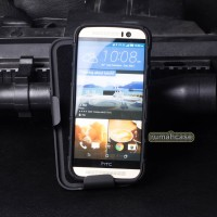 Heavy Shield Armor Belt Clip Holster Hard Case Cover Casing HTC M9