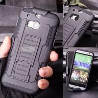 Heavy Shield Armor Belt Clip Holster Keren Hard Case Casing HTC One M8
