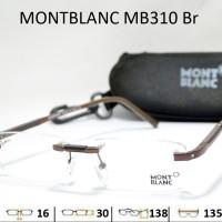 harga FRAME KACAMATA BACA FRAMELESS MONTBLANC MB 310 BOR CHIP GANTUNG Tokopedia.com