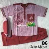 Baju Koko Anak Bordir size 7-9