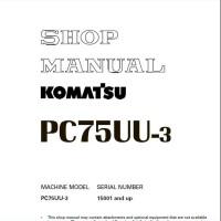 Shop Manual Komatsu PC75UU-3