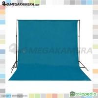 Background Polos Warna Biru Muda 3x6
