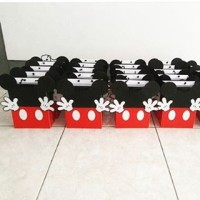 Gable Box / Paper Bag / Tas Souvenir / Favor Box - Mickey Mouse