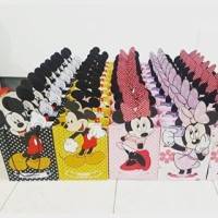 Gable Box / Paper Bag / Tas Souvenir / Favor Box - Mickey Minnie Mouse