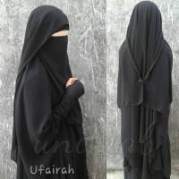 Cadar Ufairah Niqab Purdah| blm trmsk jilbab gamis handsock
