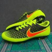 Sepatu Bola Nike Magista Hitam-Stabilo list Oren Grade Ori