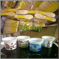 Jual cup es krim 100 ml / cup plastik / gelas ice cream Murah