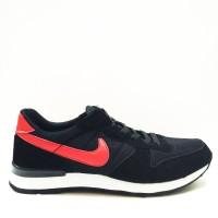 Murah Sepatu Nike Internationalist Man Black Red Import Premium