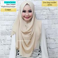 Pashmina Instan Kirana Series Cream | hijab ghaida vanilla princess
