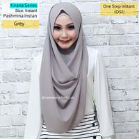 Pashmina Instan Kirana Series Grey | hijab vanilla diamond georgette