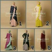 Luana by Queenalabels (dress/gamis/baju muslim/pakaian wanita)