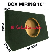 "Box Subwoofer Miring 10"" Box Audio / Salon Mobil, Box Speaker Bulat"