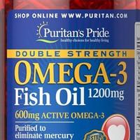 Jual Double Strength Omega 3 Fish Oil (90 Softgel) - Puritan's Pride USA Murah