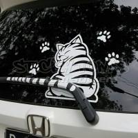 stiker mobil Cat / Kucing wiper (ekor bergerak)
