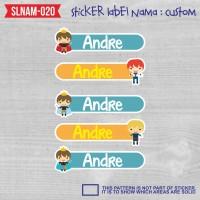 sticker label nama anak kartun boy cute laki-laki cowok SLNAM-020
