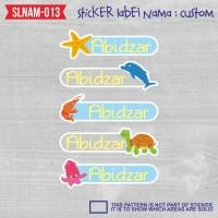 sticker label nama anak kartun boy laki-laki mainan binatang SLNAM-013