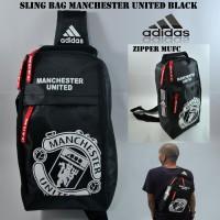Jual Tas Selempang Bola Sepatu Slingbag Waitsbag Manchester United Black Murah