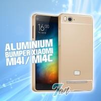 BUMPER XIAOMI MI4I MI4C ALUMINUM GOLD EMAS HARD COVER CASE MI 4I 4C