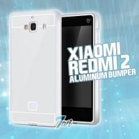 harga Bumper Xiaomi Redmi 2 Prime Pro Aluminium Silver Perak Hard Cover Case Tokopedia.com