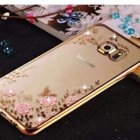 Flower Softcase Samsung galaxy S6 edge ( transparan motif bunga )