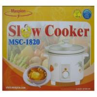 [Terbaru] Maspion Msc-1820 Slow Cooker 2 Liter (Putih)   Rice Cooke~h23