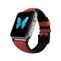 harga Patchworks Apple Watch 1-/-2 42mm Letaher Air Strap - Red. Tokopedia.com