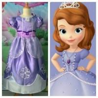 Baju Kostum Anak Perempuan/Princess Sofia The First Semprem USIA 8 thn
