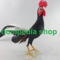 Miniatur / Boneka Ayam Jago / Ayam Jantan - Pajangan Unik Lucu