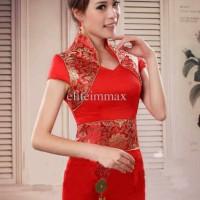 W346 Dress Cheongsam Anggun Modern Good Quality SIZE LENGKAP
