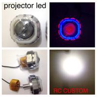 harga lampu utama projector led cree angel eyes+devil eyes motor mobil grade Tokopedia.com