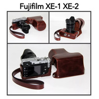 Camera Leather Case Bag Fujifilm X-E2 XE2 X-E1 XE1 tas kuli