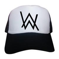 topi dj alan walker trucker bisa request warna topi dan logo