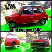 diecast mini cooper 1300 skala 1/24 by welly