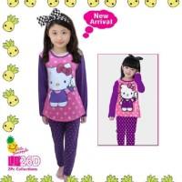Baju Anak Perempuan | Setelan Baju Tidur Anak Hello Kitty | Piyama