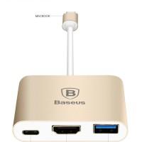 harga BASEUS Original Type-C to HDMI Type C HUB Converter 3 in 1 For MacBook Tokopedia.com