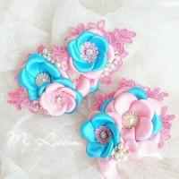 Set Headpiece n Headband Pink Biru