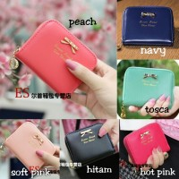 dompet wanita korea import mini ribbon wallet fashion cewek