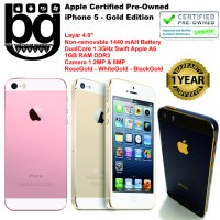 harga Apple Certified Pre Owned - iPhone 5 64GB [Gold Edition] Cod Bandung Tokopedia.com